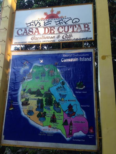 Usted puede planificar su itinerario utilizando nuestro mapa de Camiguin gigante!
