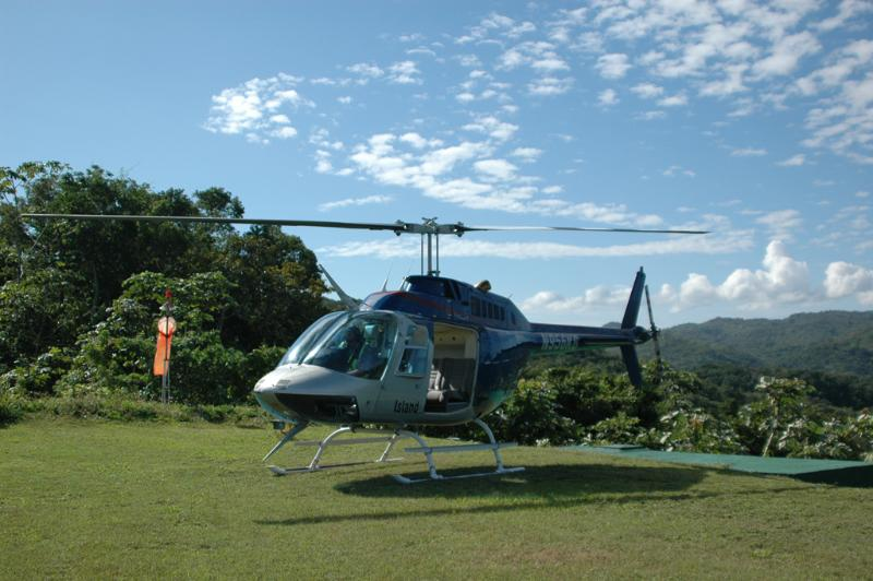 Piattaforma per elicotteri acque Villa silenziosa