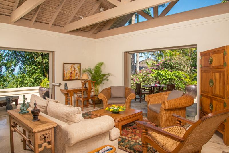 Silenzioso zona acque Villa guest suite 3 soggiorno e patio