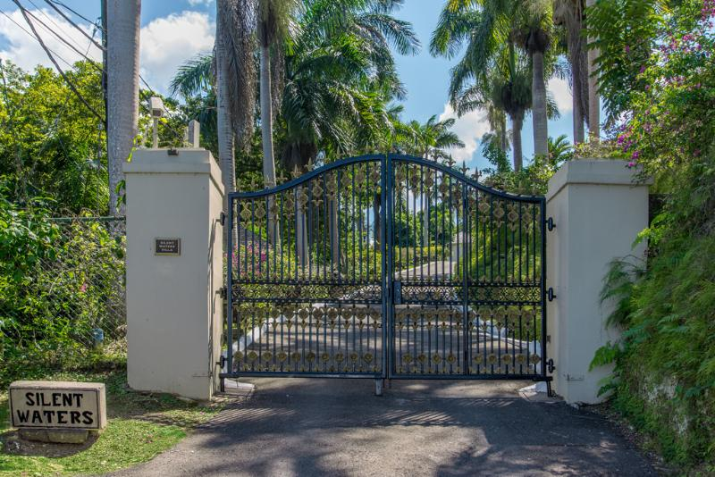 Silent Waters Villa entrance gate