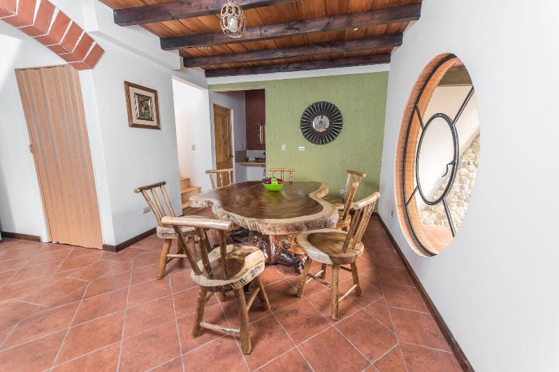 CONACASTE WOOD TABLE AND CHAIRS FOR 8
