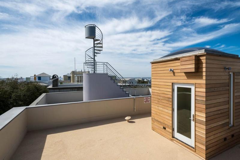 Roof Deck Overlooks the Area