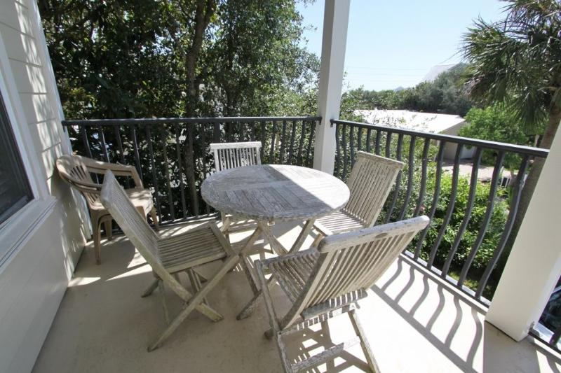 Second Story Balcony with Outdoor Dining