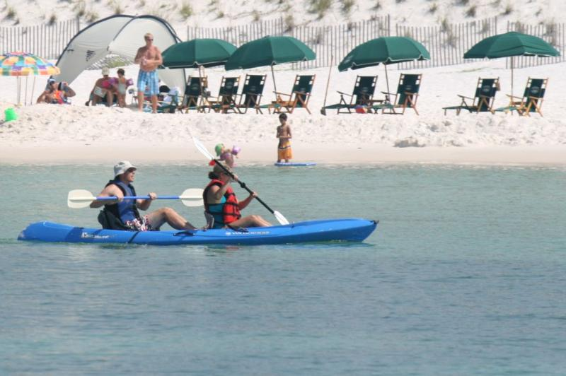 Kayaking in the Gulf of Mexico