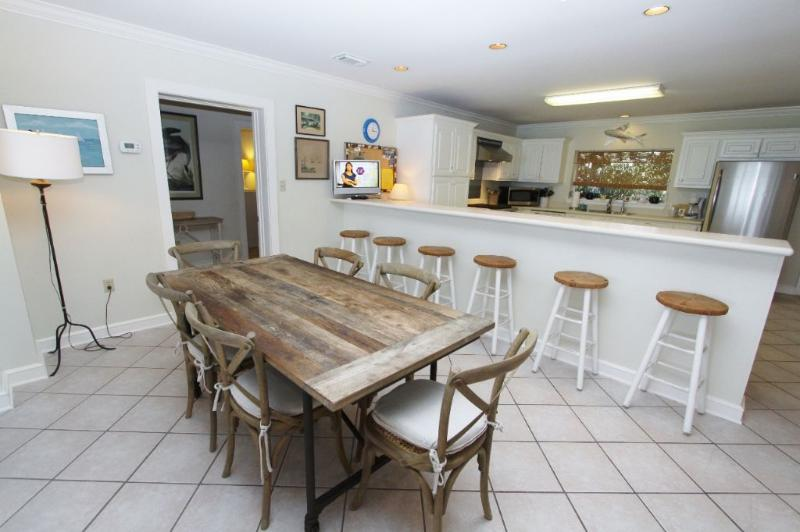 Dining Table Plus Bar Seating Choices