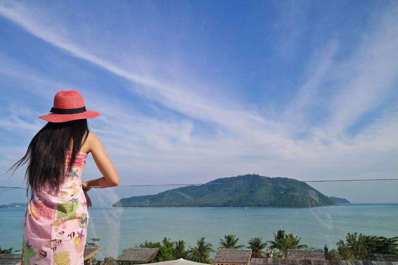 Overlooking the gorgeous view of Chalong Bay and nearby islands from private two roof top terraces