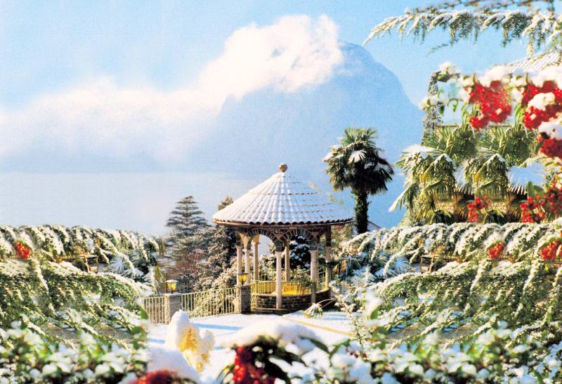 Baronie Le Pergole onder sneeuw