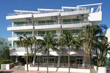 DeSoleil Residential Condominium South Beach entrance from Ocean Drive