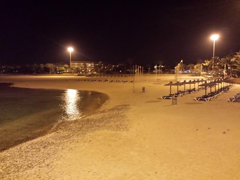 Caleta Beach by Night
