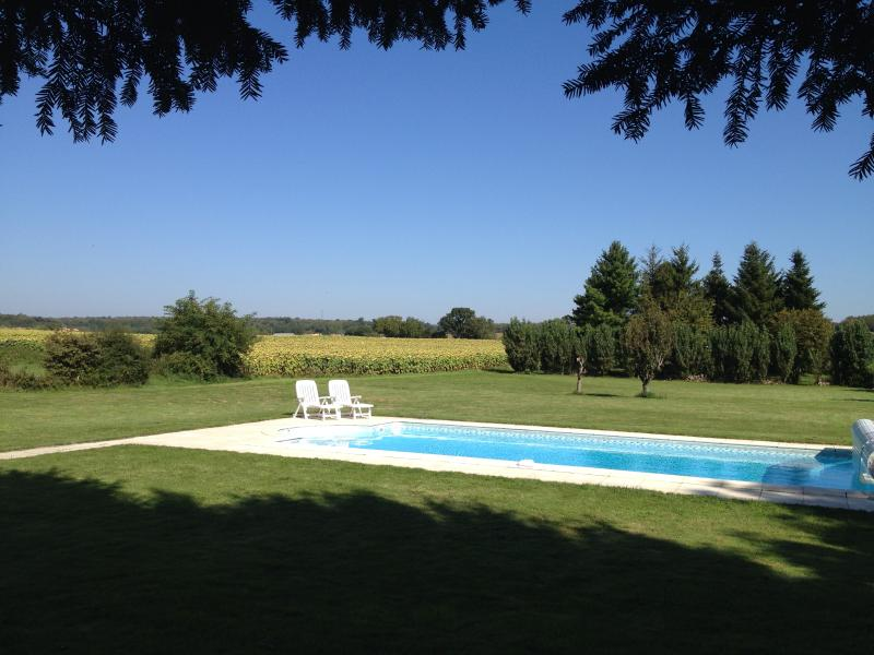 Charentaise Stone House with Own Use Private Pool and Grounds, vacation rental in Limalonges