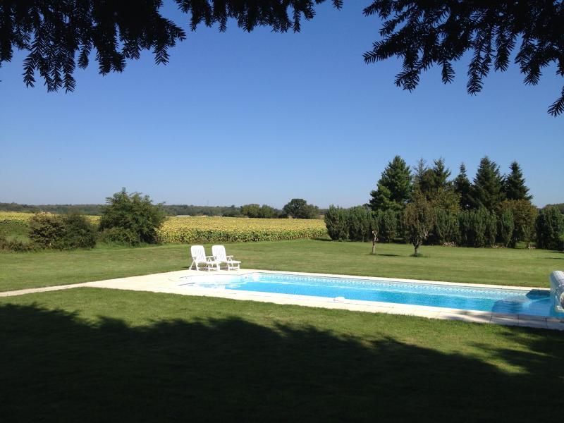 Charentaise Stone House with Own Use Private Pool and Grounds, aluguéis de temporada em Savigne