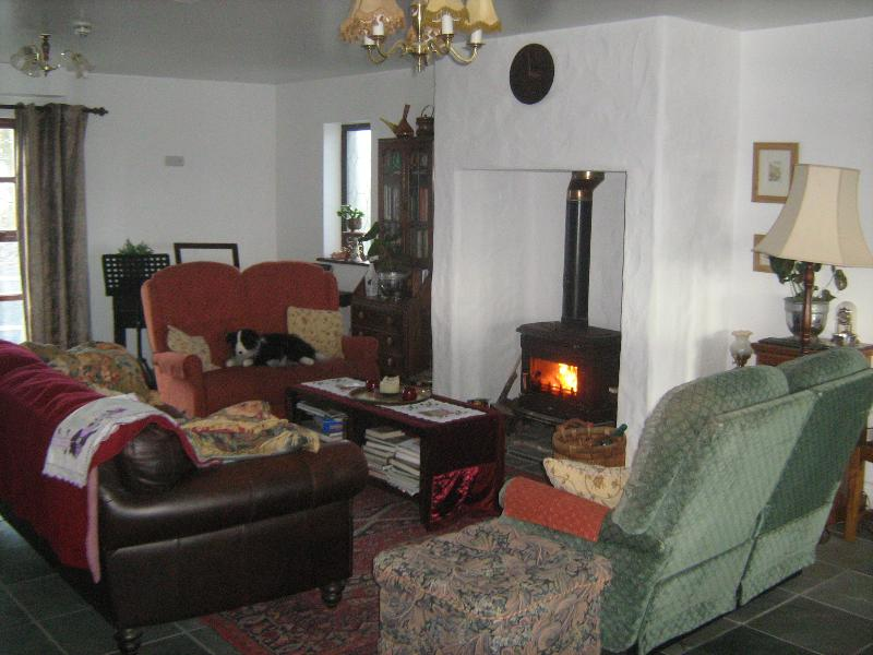 cosy fire in communal area