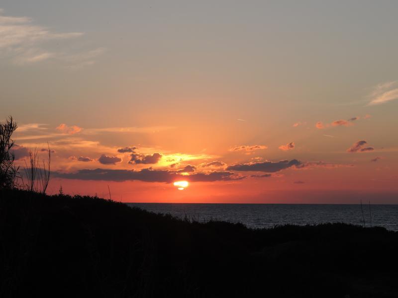 tramonto visto da casa