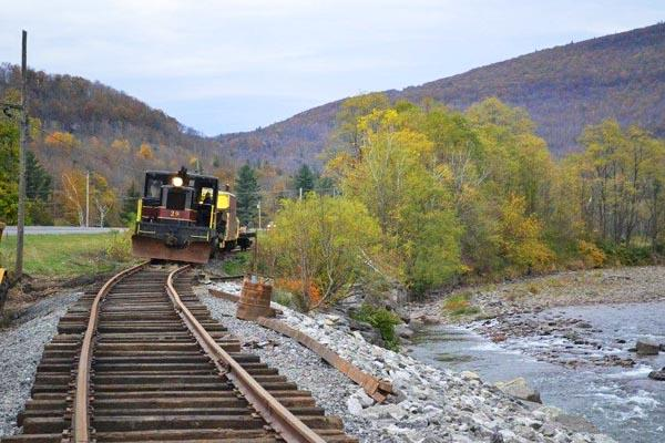 Our Catskill Mt Railroad runs along the banks of the Esopus with a stop at the Railroad Museum.