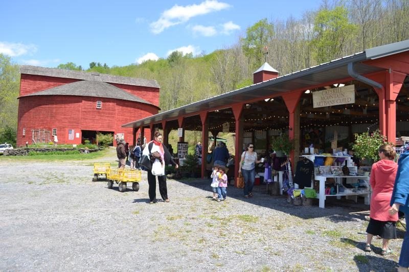 The Pakatakan historic round barn hosts Saturday farmers markets from May through October