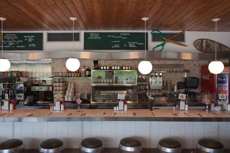 Inside the popular retro breakfast spot- The Phoenicia Diner. They serve lunch too.