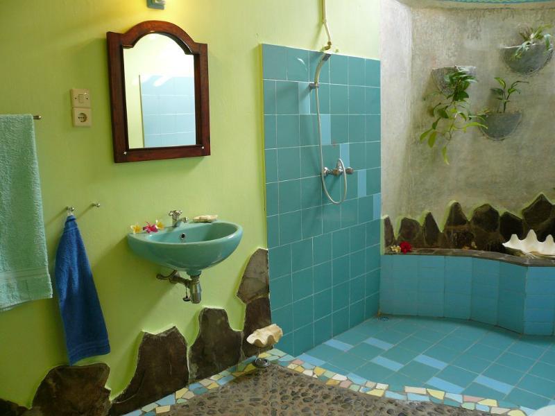 medio cuarto de baño abierto superior Bungalow 10.6 m2