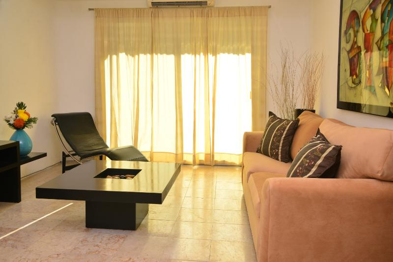 spacious living room, fully furnished