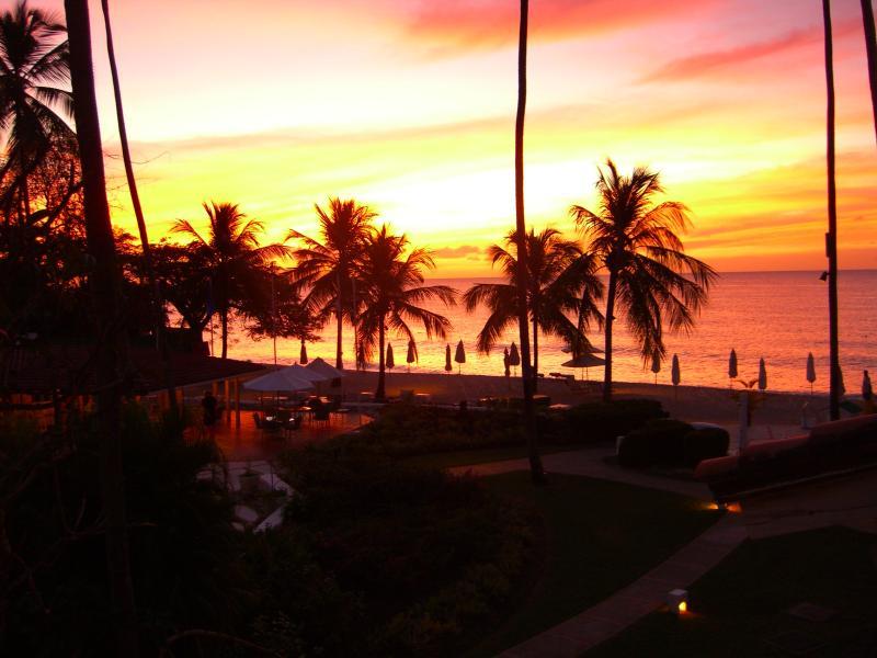 Ver puestas de sol increíbles desde la terraza con un ponche de ron.