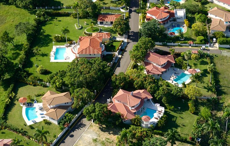 Arial view of Villas