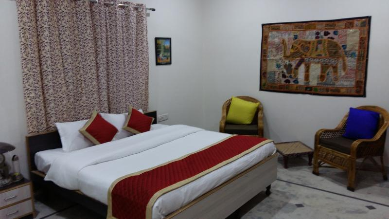 Super deluxe Room with attach dressing , let bath and balcony.