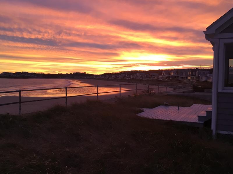 autumn sunset over Long Beach