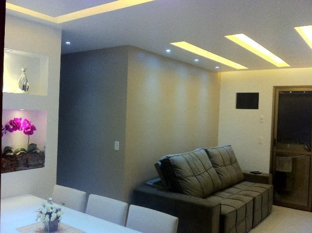 Living room, ceiling with led and relegated
