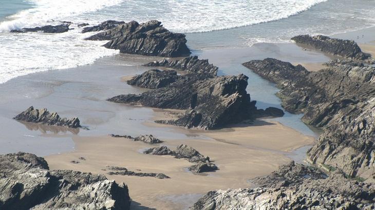 very low tide at Warren beach