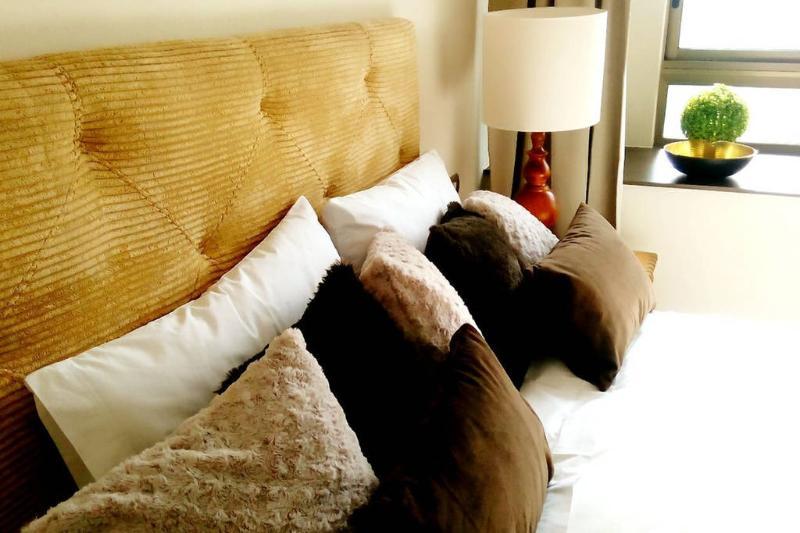Master bedroom in suite