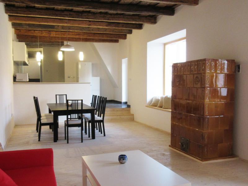 3 rooms Apartment near Budapest, alquiler vacacional en Chlaba