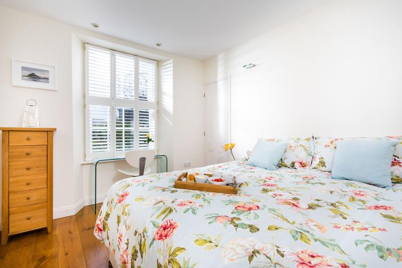 Second bedroom can be arranged as twin single beds or a super-king double