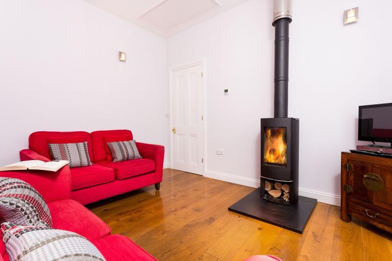 Wood burner and under floor heating to keep you warm!