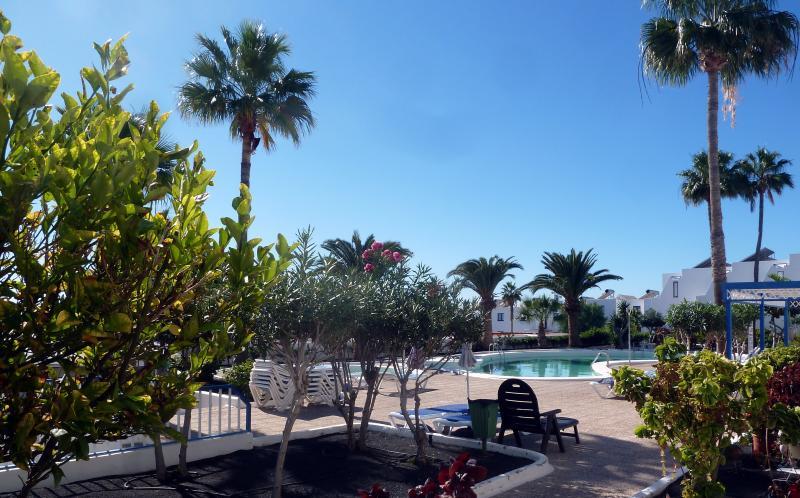 Vista do terraço para a piscina