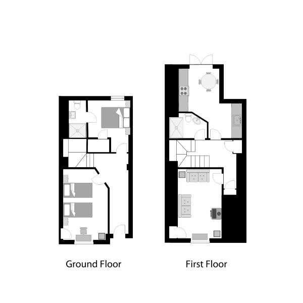 Number Three floor plans