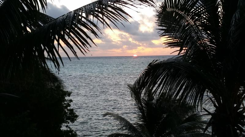 Sunrise from the balcony.  The beginning of another day in paradise!