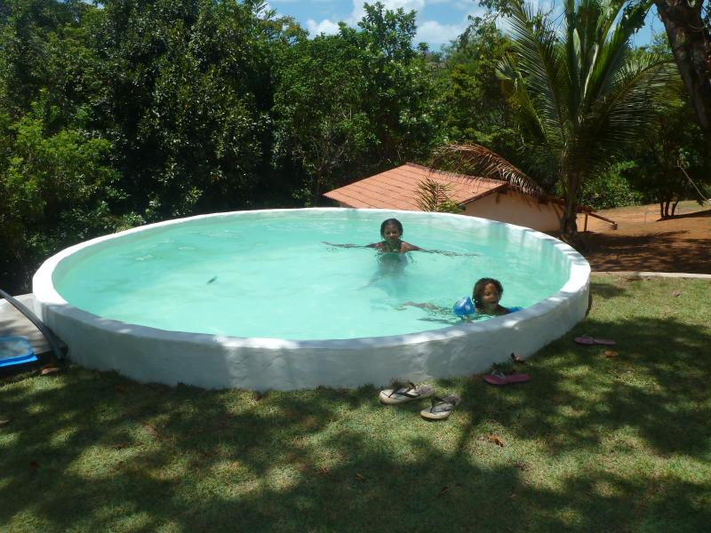 Our small pool with lake view!