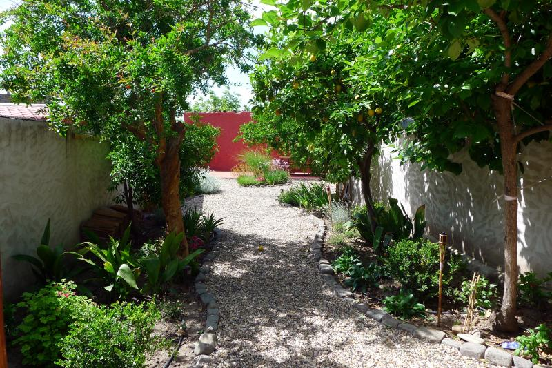 Charming house with beautiful garden, free WiFi, alquiler vacacional en Zerfaliu