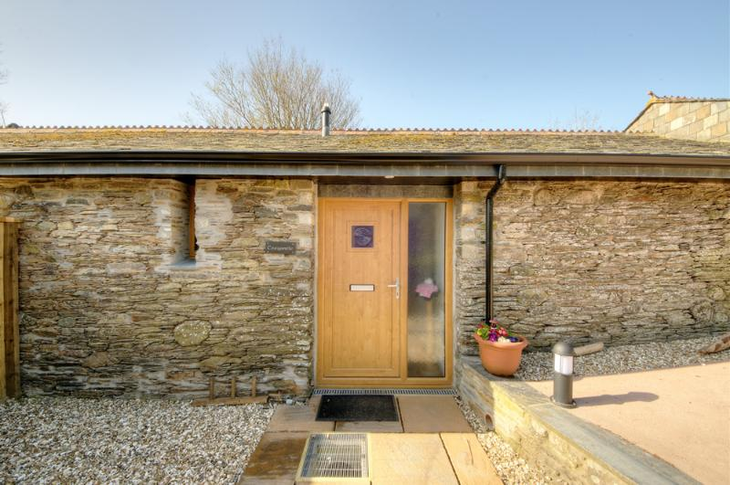 Traditional Cornish stone Barn conversion all on one level with parking directly outside.