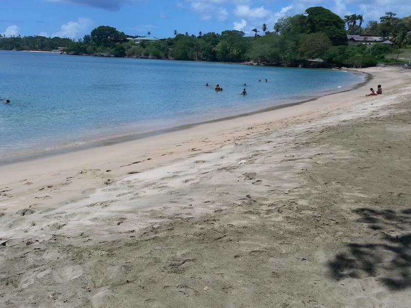 Grange Beach just 1.50km from villa. Very good for swimming when calm