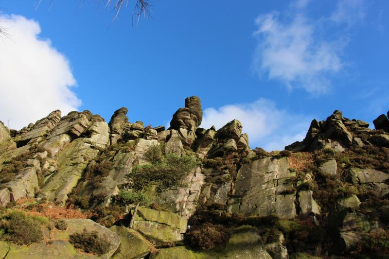 Looking up to The Roaches..