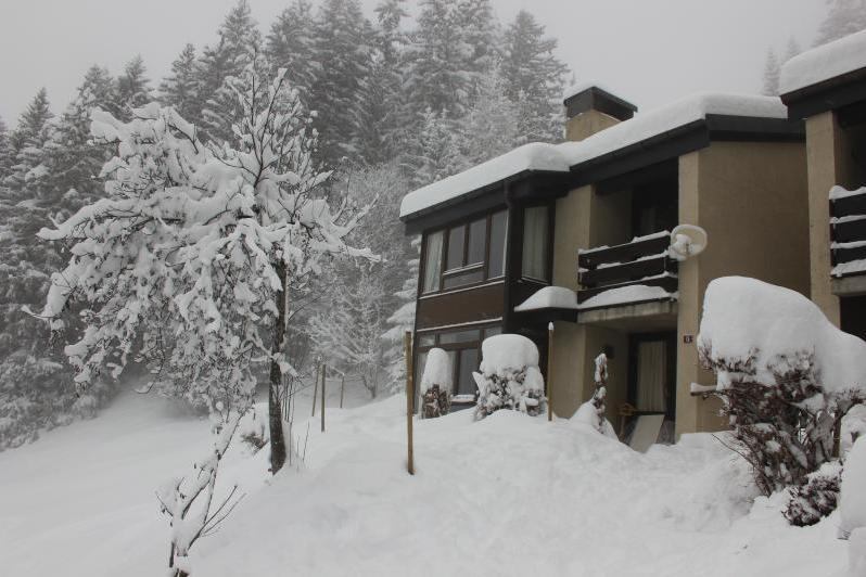 The outside of the property on a very snowy day !