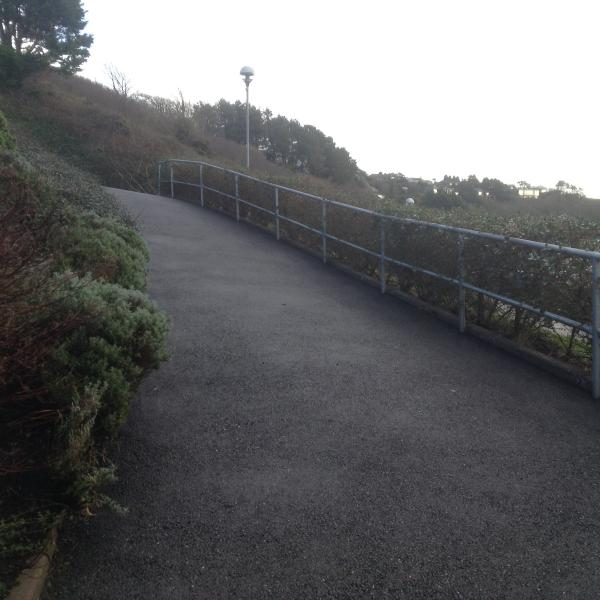 Slope from car parking to level ground at door entrance