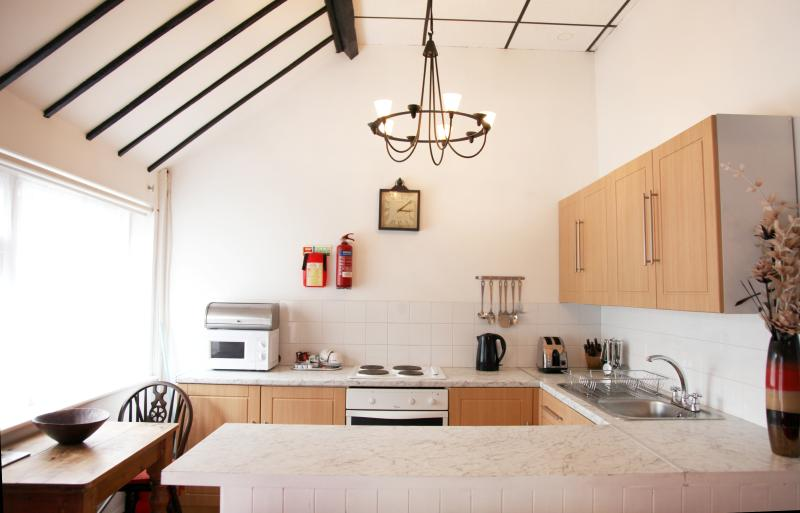 Cottage 4 fully equipped kitchen, open plan with main room..
