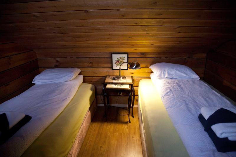 Die oberen Betten.