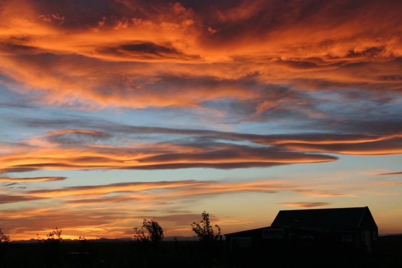 Sonnenuntergang in Midtun.