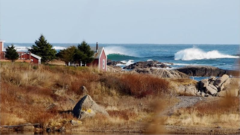 Sometimes with South East winds big waves roll right into the bay,  experience spectacular nature