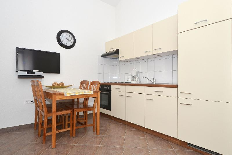 Open kitchen/dining/living area