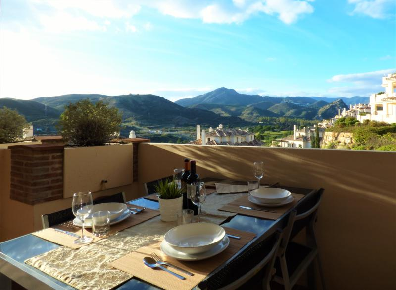 Lovely views to the mountains and golf from your terrace