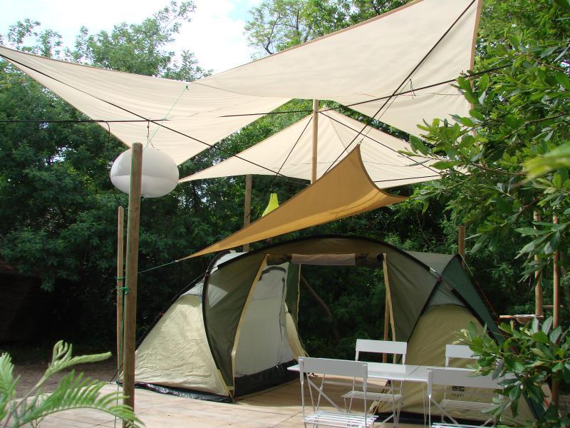 Plateforme à Messanges au camping du Moisan
