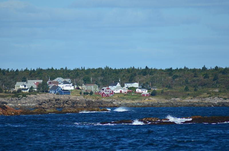 The Sailor`s Rest House sits on the rocks at the end of the quaint fishing village of Sampson Cove